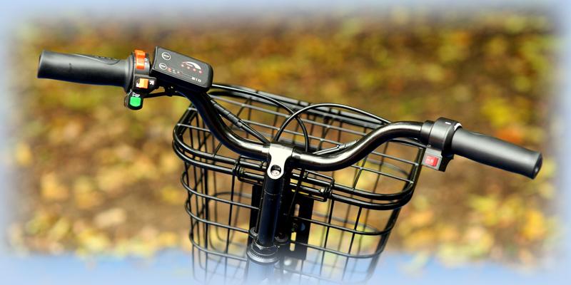 Руль с корзиной для вещей