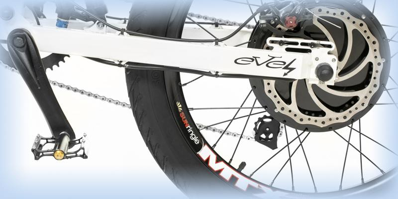 Заднее колесо модели Stayer с электро приводом
